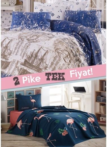 Eponj Home 2li Pike Tek Kişilik Pusula + BigFilamin Mavi